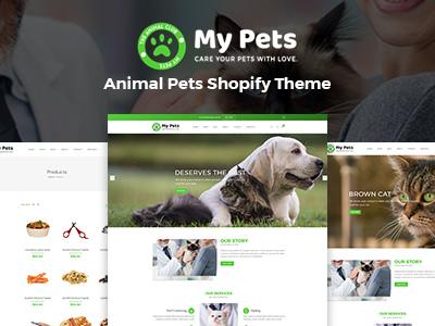 My Pets - Pet Sitter, Pet Shop, Animal Care Shopify Theme (Shopping)