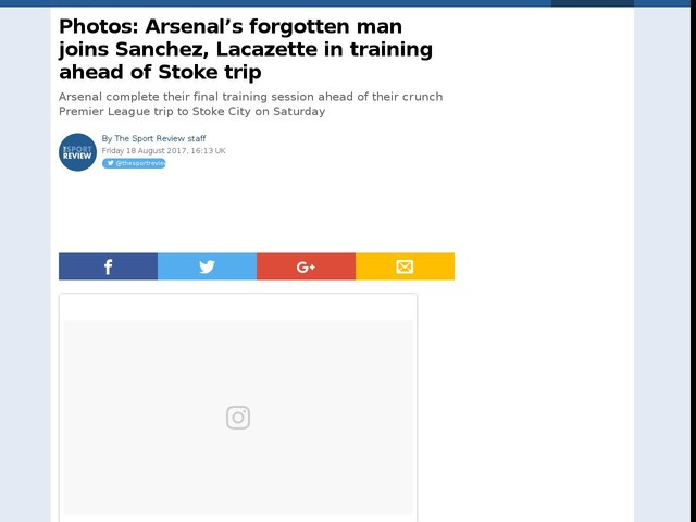 Photos: Arsenal's forgotten man joins Sanchez, Lacazette in training ahead of Stoke trip