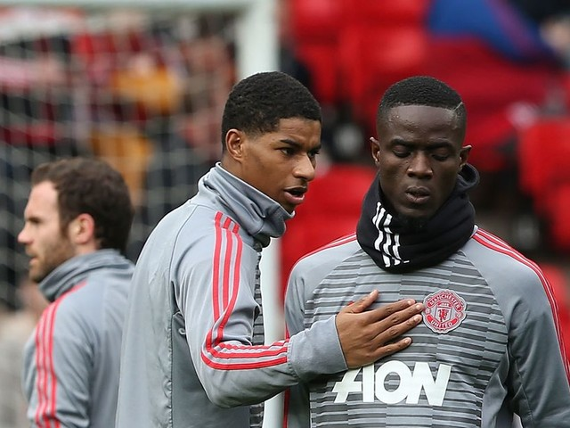 Marcus Rashford's brilliant message to Manchester United teammate Eric Bailly