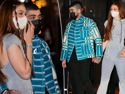 Gigi Hadid and partner Zayn Malik step out for her birthday along with sister Bella Hadid in NYC