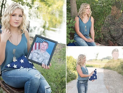 High school student honors her soldier father with 'angel-photo'