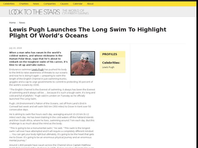 Lewis Pugh Launches The Long Swim To Highlight Plight Of World's Oceans