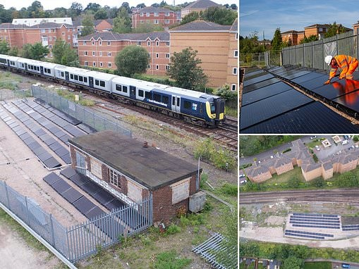 World's first solar powered train line is turned on in Hampshire