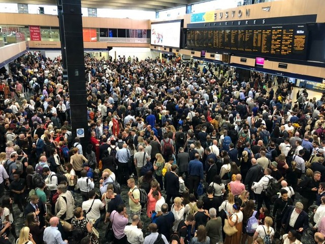 London Tube lines shut by trespasser and thousands of train passengers stranded at Euston and Marylebone by signal failure