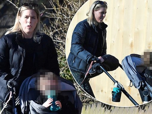 Declan Donnelly's wife Ali Astall looks happy as she enjoys stroll with daughter Isla