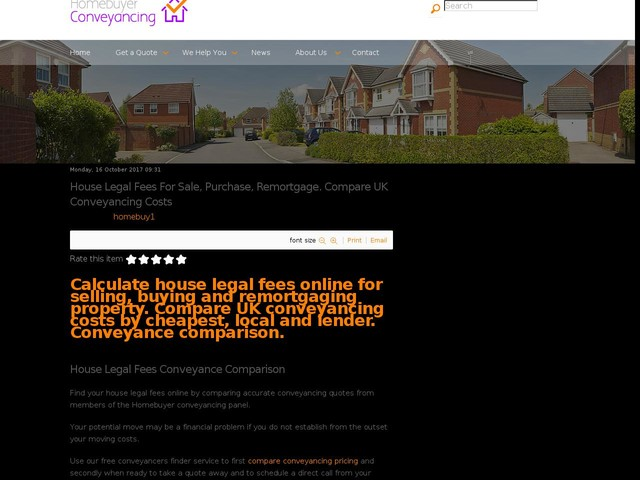 House Legal Fees For Sale, Purchase, Remortgage. Compare UK Conveyancing Costs