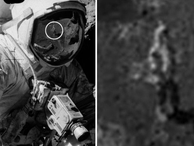 Conspiracy theorists believe they have debunked the moon landings