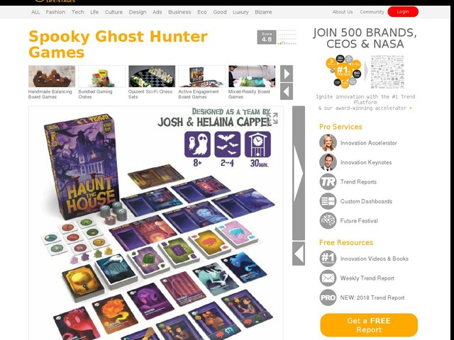 Spooky Ghost Hunter Games - The 'Haunt the House' Board Game Has Players Working to Scare Spooks (TrendHunter.com)