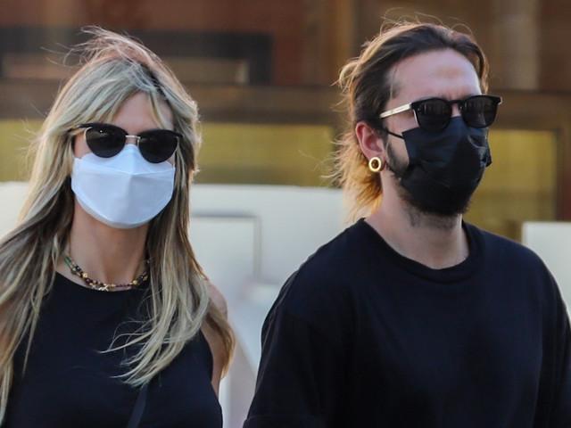 Heidi Klum & Husband Tom Kaulitz Hold Hands While Shopping in Beverly Hills
