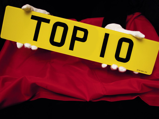 The most expensive numberplates sold in the UK