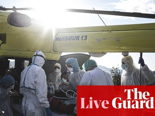 Coronavirus live news: quarter of deaths in France linked to Covid as US tops 140,000 daily cases