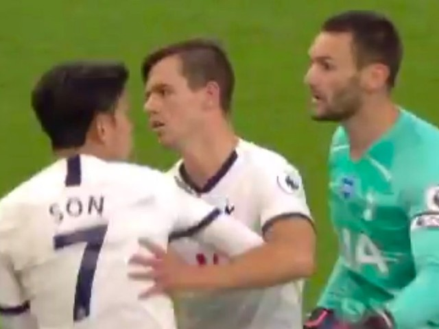 Lloris and Son kept apart by Spurs teammates during furious on-pitch fracas