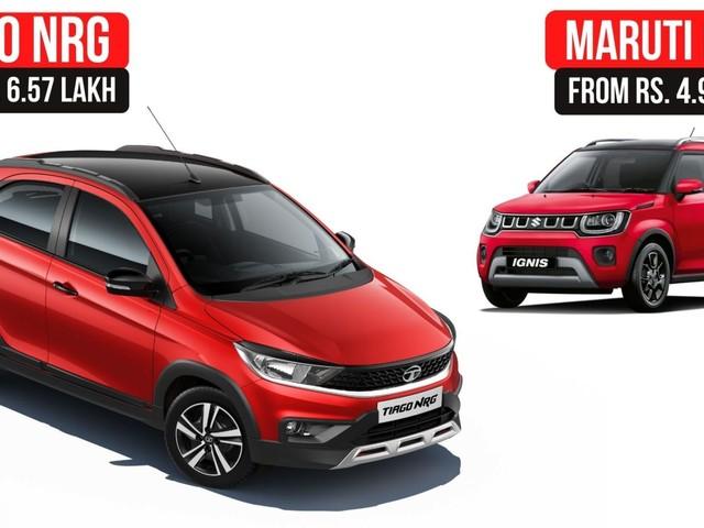 2021 Tata Tiago NRG Vs Maruti Suzuki Ignis – Detailed Comparison