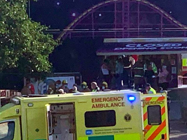 Six people rushed to hospital after funfair ride collapses in Antrim