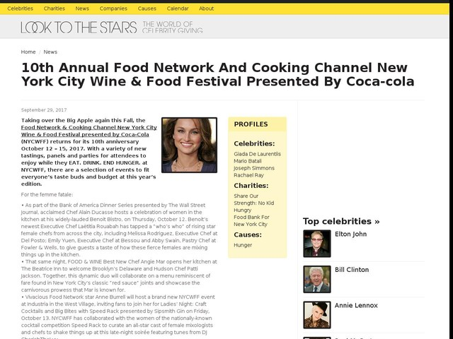 10th Annual Food Network And Cooking Channel New York City Wine & Food Festival Presented By Coca-cola