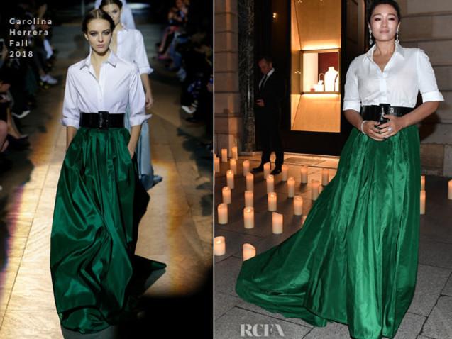 Gong Li In Carolina Herrera – Boucheron Dinner