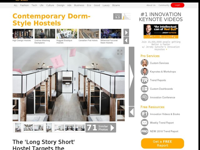Contemporary Dorm-Style Hostels - The 'Long Story Short' Hostel Targets the Contemporary Traveler (TrendHunter.com)