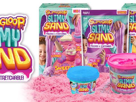Slime-Like Sand Toys - SLIMYGLOOP SLIMYSAND Stretches Like Slime & Molds Like Sand (TrendHunter.com)