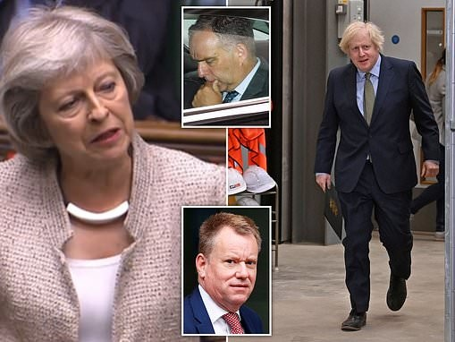Theresa May savages Boris Johnson for making Brexit negotiator David Frost national security adviser