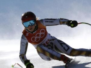 Ledecka wins surprise Olympic super-G title with late charge