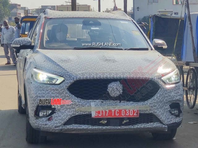 MG ZS Petrol SUV Spied With LED Projectors – 2021 Launch To Rival Creta, Seltos