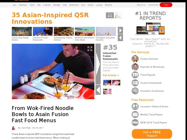 35 Asian-Inspired QSR Innovations - From Wok-Fired Noodle Bowls to Asain Fusion Fast Food Menus (TrendHunter.com)