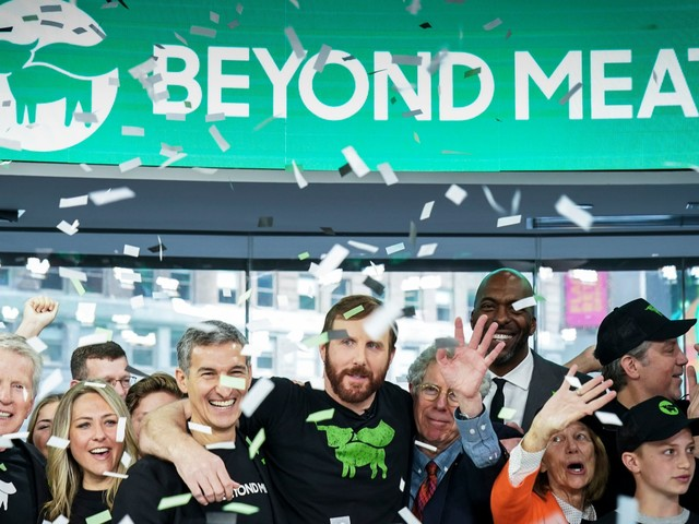 Beyond Meat soars on first earnings report as the plant-based-burger company's staggering post-IPO run rages on (BYND)