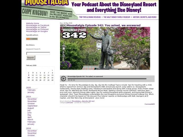 Mousetalgia Episode 342: You asked, we answered