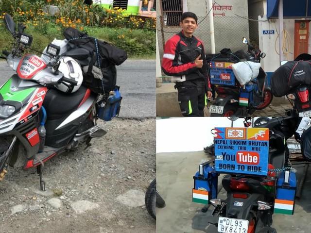 After Conquering Ladakh On A TVS Jupiter, Lakshay Tours Nepal And Bhutan On Aprilia SR150