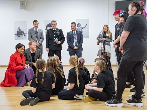 The Duke And Duchess Of Sussex Visit Charities In Birkenhead