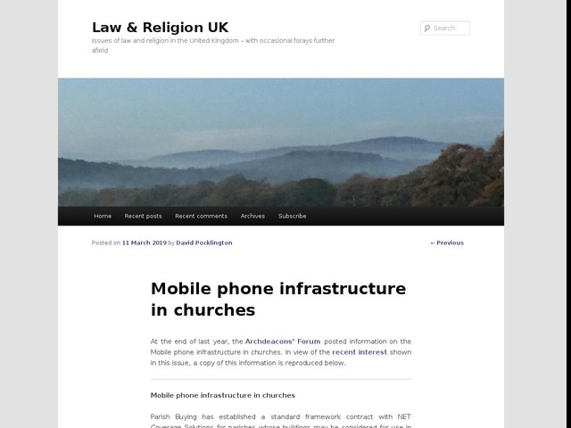 Mobile phone infrastructure in churches
