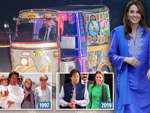 Prince William says he was 'a big fan of mum' as he and Kate Middleton honour Princess Diana in Pakistan