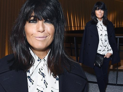 Claudia Winkleman cuts a classically chic figure in monochrome