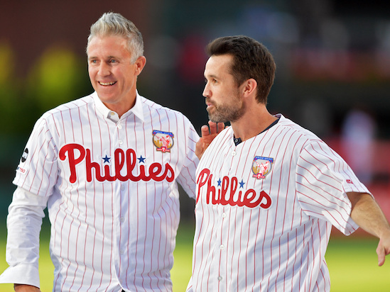'It's Always Sunny': Rob McElhenney Had a Catch With Chase Utley and Now Mac Can Die Happy (Video)
