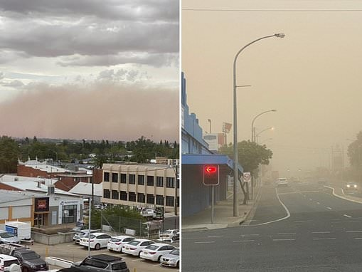 Huge dust storm that passed through Melbourne hits Tamworth during the country music festival