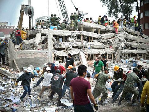 Rescuers in grim search for survivors of Mexico quake