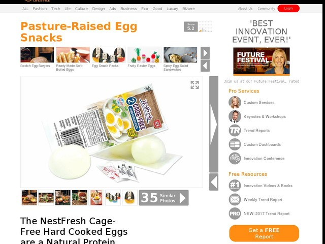 Pasture-Raised Egg Snacks - The NestFresh Cage-Free Hard Cooked Eggs are a Natural Protein Snack (TrendHunter.com)