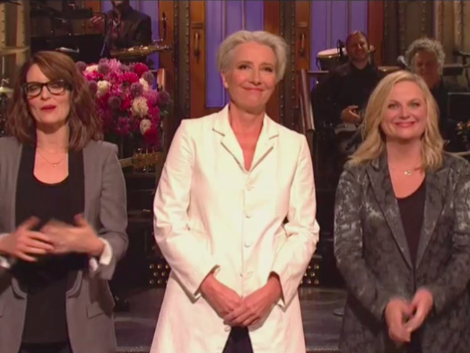 Tina Fey and Amy Poehler Join Emma Thompson in 'SNL' Mother's Day Monologue (Watch)