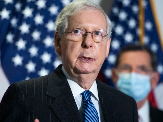 Mitch McConnell is telling GOP senators their decision on a Trump impeachment trial conviction is a 'vote of conscience'