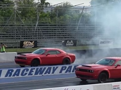 Dodge Demon Drag Races Dodge Demon, All Hell Breaks Loose