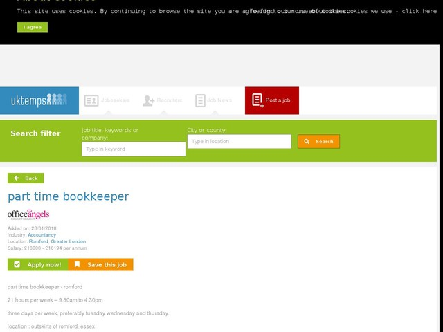 part time bookkeeper