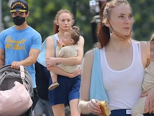 Sophie Turner and husband Joe Jonas take their one-year-old daughter Willa on a stroll around NYC