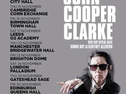 NEWS: John Cooper Clark announces 2018 Dates
