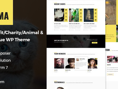Anima - Pet Rescue and Shelter WordPress Theme for Non-Profit/Charity/Fundraising Organization (Charity)