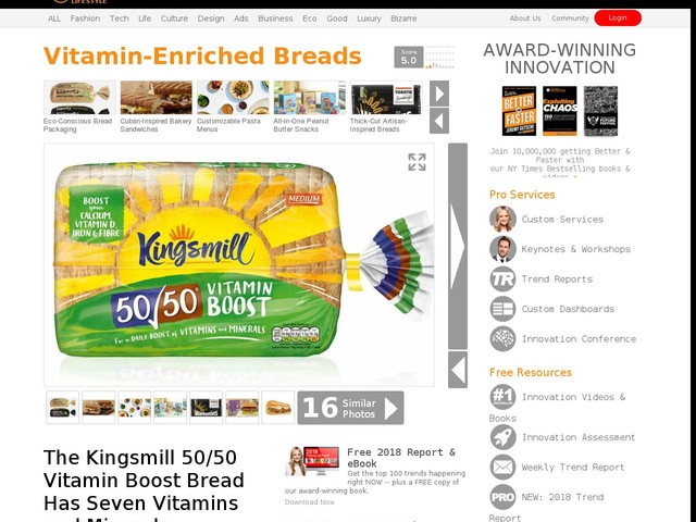Vitamin-Enriched Breads - The Kingsmill 50/50 Vitamin Boost Bread Has Seven Vitamins and Minerals (TrendHunter.com)