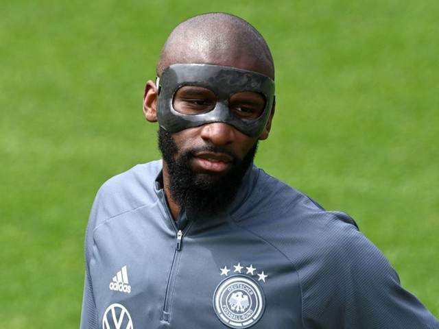 Why is Antonio Rudiger wearing a mask for Germany at Euro 2020