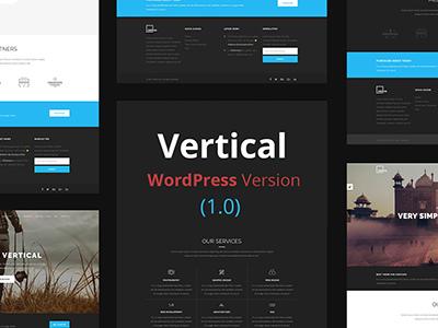 Vertical- One Page Multipurpose WordPress Theme (Corporate)