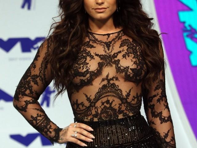 Demi Lovato in Zuhair Murad at the VMAs: goofy or not bad?