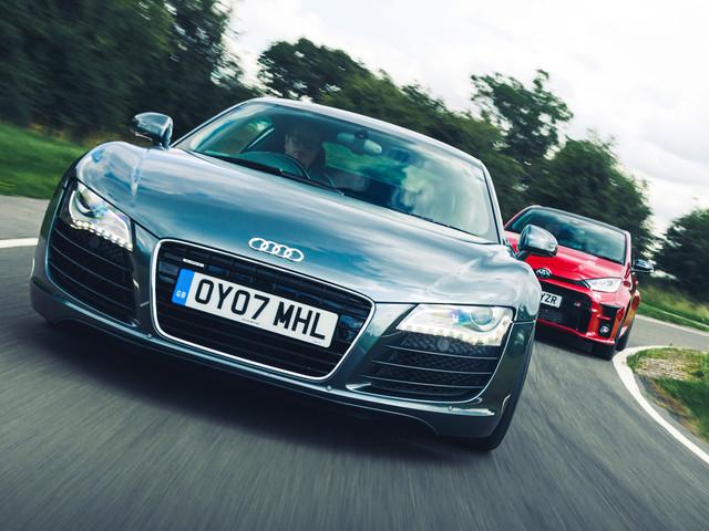 New vs used: Toyota GR Yaris vs Audi R8