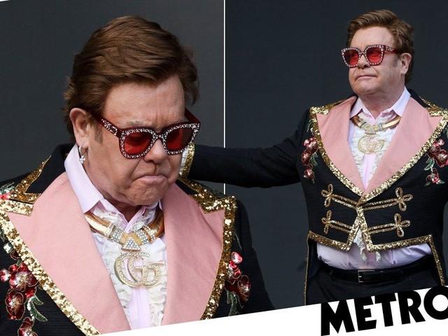 Elton John sobs as he walks offstage midway through New Zealand gig while battling pneumonia